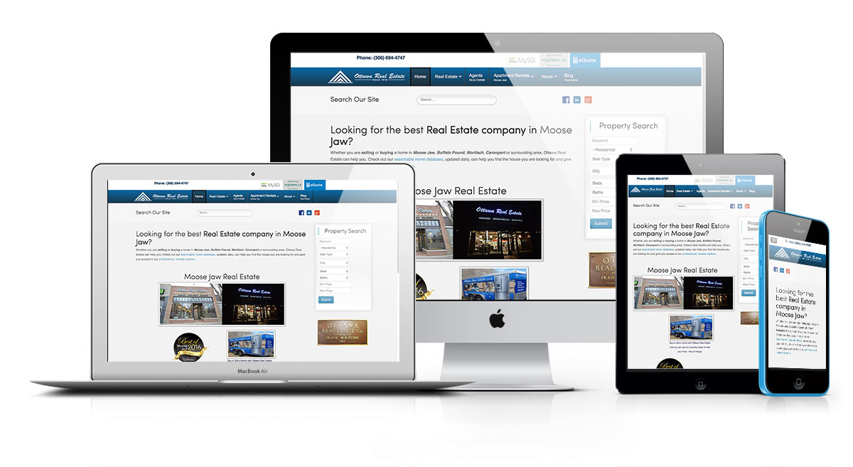 Ottawa Real Estate Moose Jaw Responsive Web Design Reactive Designs